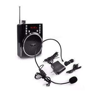 Pyle PWMA40BT Portable Bluetooth Radio and PA Speaker System, Compact Headset Microphone Sound Amplifier