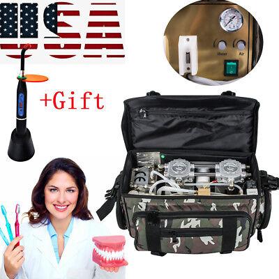 Portable Dental Dentist Turbine Unit Air Compressor Suction Syringe Bag Gift