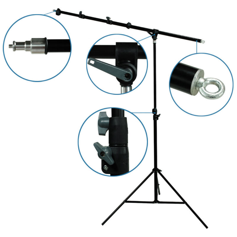 Photography Studio Hair Light Boom Arm Stand Lighting Kit Easy Set Up Stand