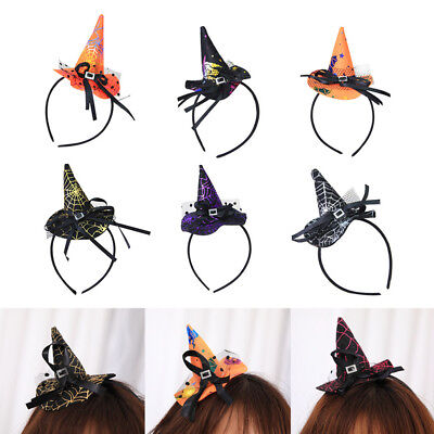 Mini Witch Hat On Headband  Halloween Fancy Dress Props Kid Cosplay Party Gifts