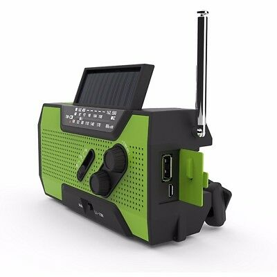 Quad Power Solar Crank Noaa Weather Radio For Emergency With 2000Mah Power Bank