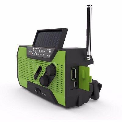 Quad Power Solar Crank NOAA Weather Radio for Emergency With 2000mah Power BANK