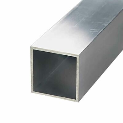 6063-t52 Aluminum Square Tube 1 X 1 X 116 Wall X 48 Long 3 Pack