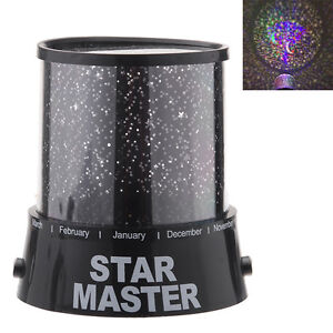 Romatic Cosmos Moon Star Master Projector LED Starry Night Sky Light Lamp Baby