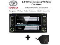 Toyota Estima Prius Plus Car DVD Player Stereo Radio GPS Sat Nav Reverse Camera 250 Fitting Service