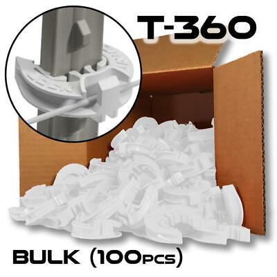 Lockjawz Bulk Electric Fence T Post Insulators - White T-360