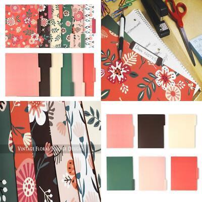 Decorative File Folders - 12-count Colored Letter Spring Designs
