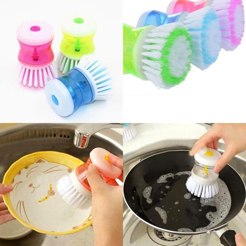 Küchenbürste Kunststoff Spülbürste Bürste Reinigungsbürste mit Spülmittelspender