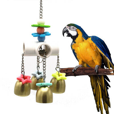 Parrot Bird Chew Toys Macaw African Grey Cotton Knot Large Rope Hanging Swing UK