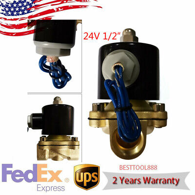 24v 12 Npt Brass Electromagnetic Valve 2-way Solenoid Valve Normally Closed