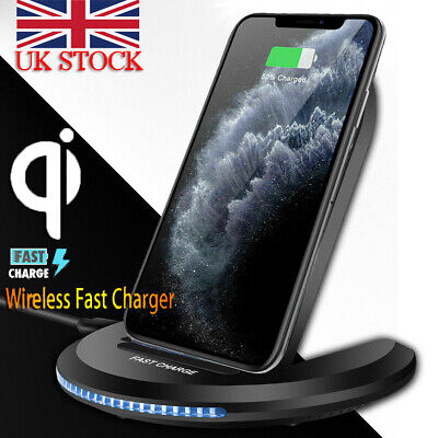 Qi Wireless Charger 10W Fast Charging Stand Dock For iPhone 11 X Samsung S10 S9
