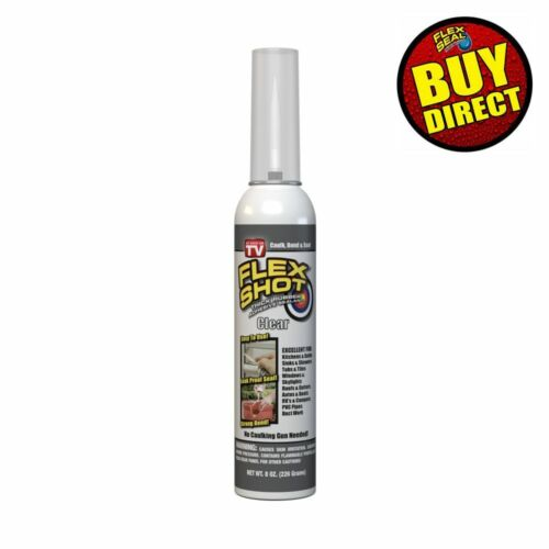 Flex Shot Clear 8-oz. Thick Rubber Adhesive Sealant Caulk Bond Seal BUY DIRECT!