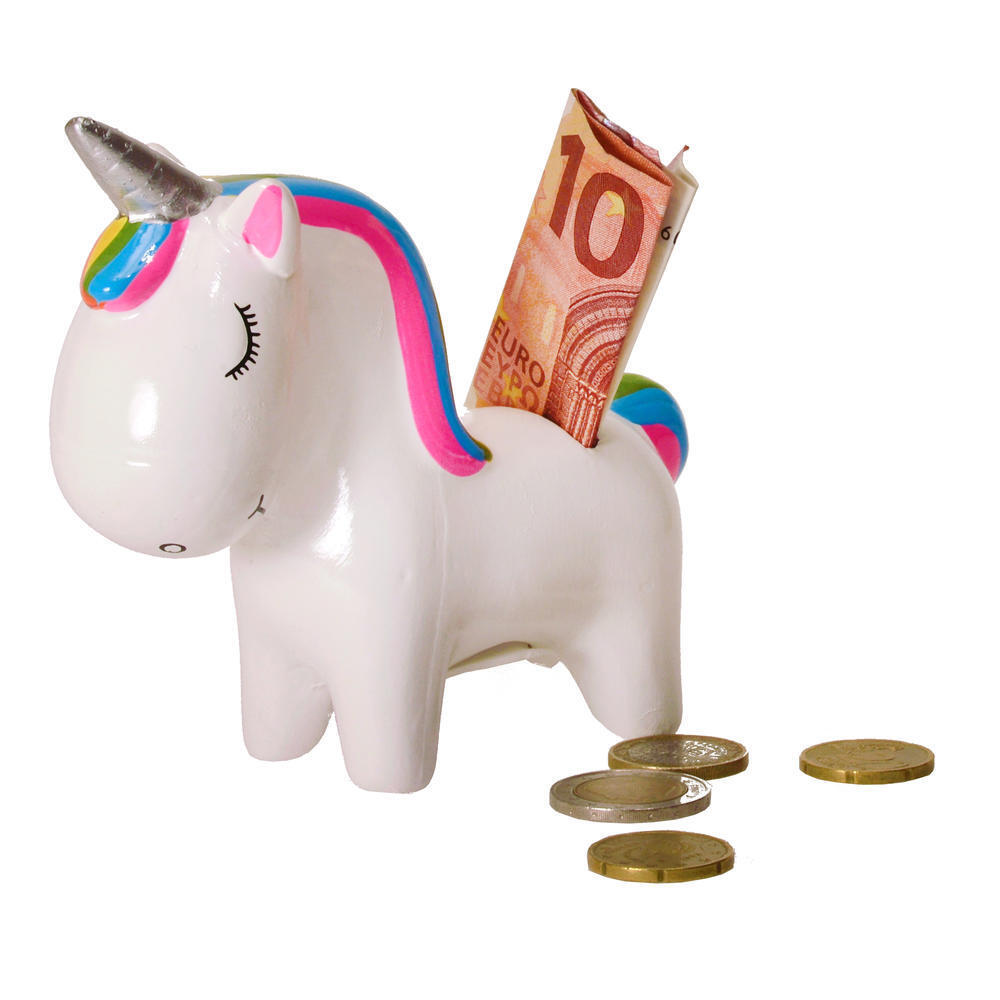 UNICORN MONEY BOX Rainbow Mane Piggy Bank Coin Fund Kids Birthday Gift Box UK