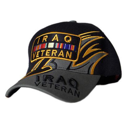 US Honor Embroidered Shark Fin Iraq Veteran Bar Baseball Caps Hats ()