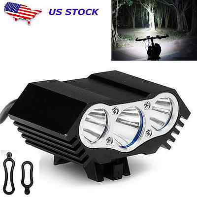 10000Lm 3 x CREE T6 LED 4 Modes Bicycle Lamp Bike Light Headlight Cycling Torch