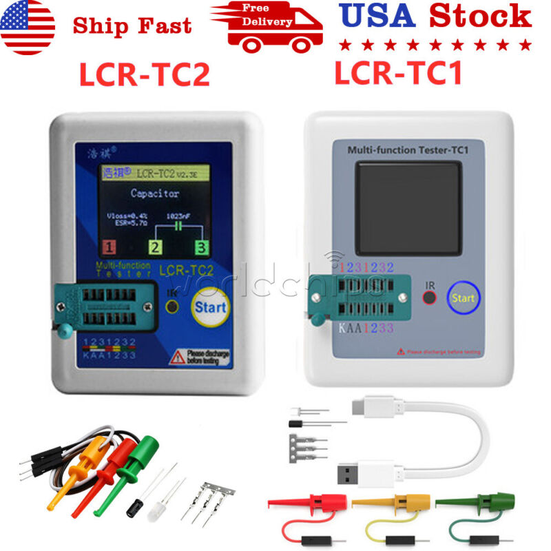 Upgraded Transistor Tester Diodes LCR-TC1 LCR-TC2 TFT Color Graphics Display