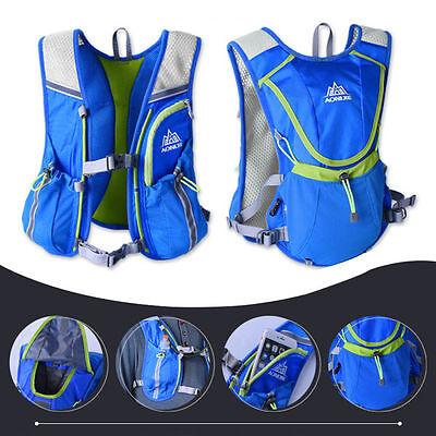 Professional Running Race Vest Outdoors Marathoner Hydration BackPack Bag 8L