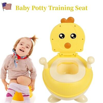 Portable Kids Baby Potty Training Seat Toddler Lovely Toilet Seat Stool Chair US
