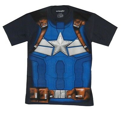 Captain America Winter Soldier Costume Marvel Comics Adult T Shirt