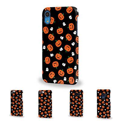 Halloween ghosts pumpkin outline Hard Phone Case Samsung Galaxy Apple - Halloween Pumpkin Outline