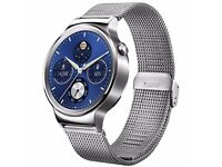 Huawei Smartwatch with silver mesh metal strap branded