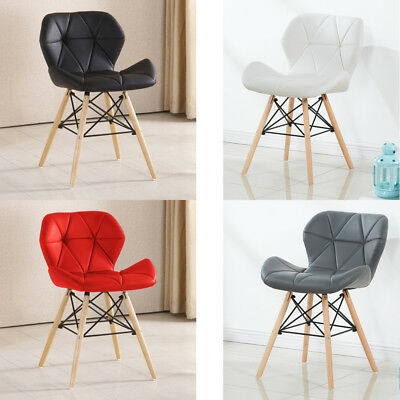 Cecilia Eiffel Dining Chair Faux Leather Pentagone Living Room Padded Seat