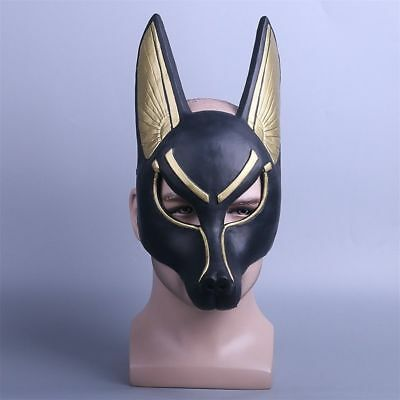 Cosplay Egyptian Anubis Mask PVC Wolf Masquerade Mask Halloween Party Props New - Anubis Mask Halloween