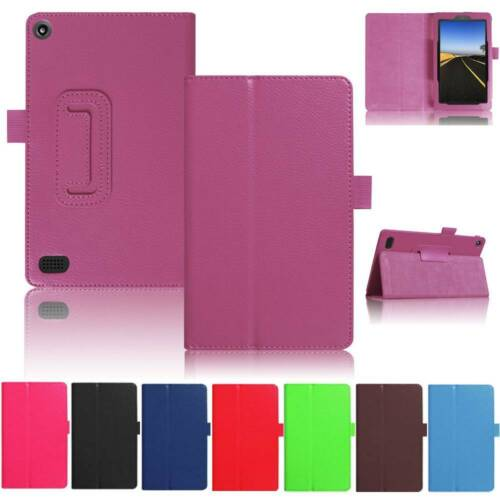For Amazon Kindle Fire 7 2017 2015 Flip Smart PU Leather Thi