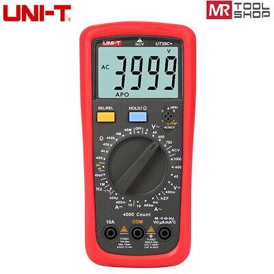 Uni-t Ut39aut39c Digital Multimeter Ac Dc Manual Ohmmeter Temp Cap Ncv Tester