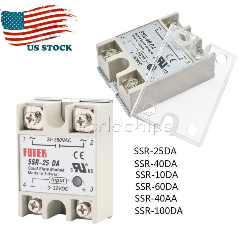 25A/40A/60A SSR-25DA 10DA/40DA/60DA Solid State Relay Module Alloy Heat Sink