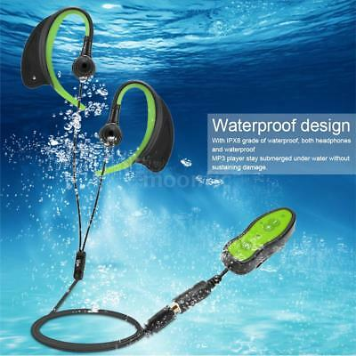 8GB IPX8 Waterproof MP3 FM Radio musique Lecteur Sport Swimming Casque avec Clip