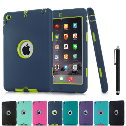Besdata Heavy Duty Tough Shockproof with Stand Hard Case Cover For New iPad 2017 9.7 Inch// iPad 5 Blue