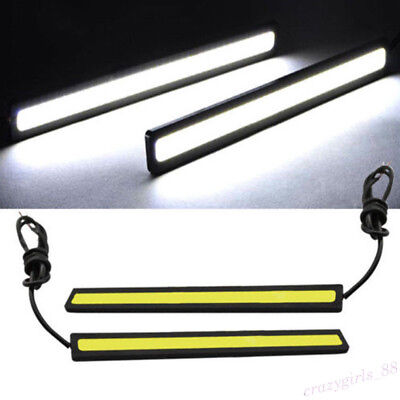 17cm Waterproof 12V LED COB Car DRL Driving Daytime Running Lamp Fog Light Parts for sale  Shipping to Canada