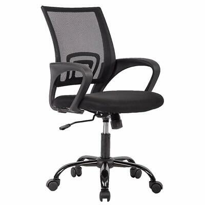 New Black Ergonomic Mesh Computer Office Desk Midback Task Chair Wmetal Base H3