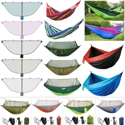 Parachute Double Hammock Mosquito Net Camping Hanging Bed Sl