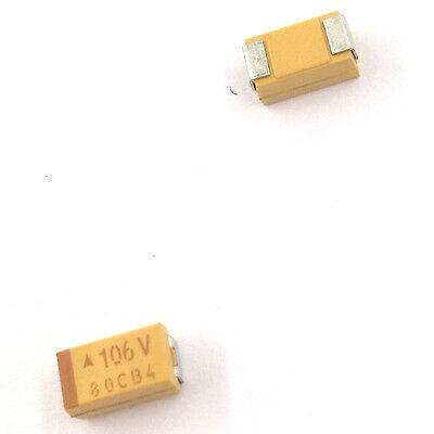 10pcs 1206 Smd Tantalum Capacitor 25v 1uf 4.7uf 10uf 4.7 10 Uf 3216 A
