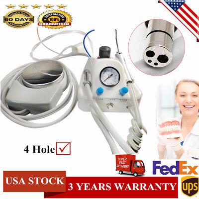 Dental 4 Hole Lab Portable Turbine Unit With Water Syringe Work Fit Compressor