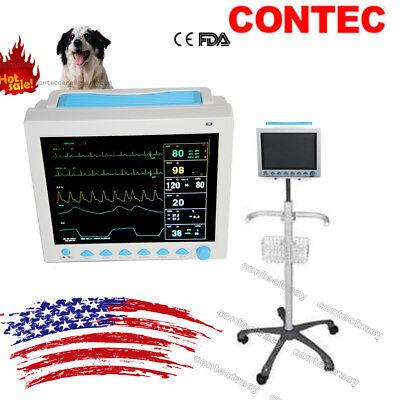 Usa Vet Veterinary Patient Monitor 6 Parameterecgnibpprspo2temprespcart