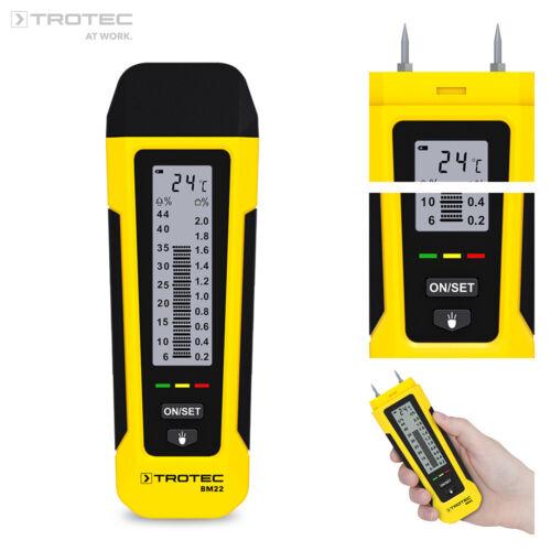 TROTEC Feuchtemessgerät BM22 | Feuchtemesser Feuchtigkeitsmessgerät Holzfeuchte