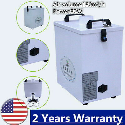 Pure Air Fume Extractor Smoke Purifier For Cnc Laser Cutting Machine 180 Mh Us