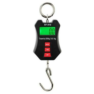 200 Kg440 Lbs Digital Hanging Scale Mini Industrial Crane Scale Luggage-black