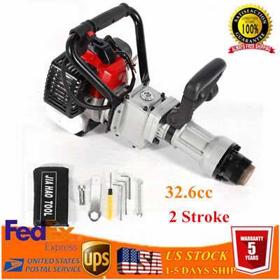 2stroke 32.6cc T-post Driver Gas Powered Push Pile Driver Garden Farm Fence 900w