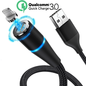 Magnetic Lightning Cable 3A Fast iPhone 11 XR 8 Charger Charging Cord