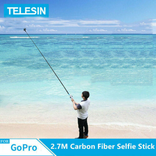 TELESIN 106 inch 35inch Carbon Fiber Selfie Stick For GoPro 10 9 Max Insta360