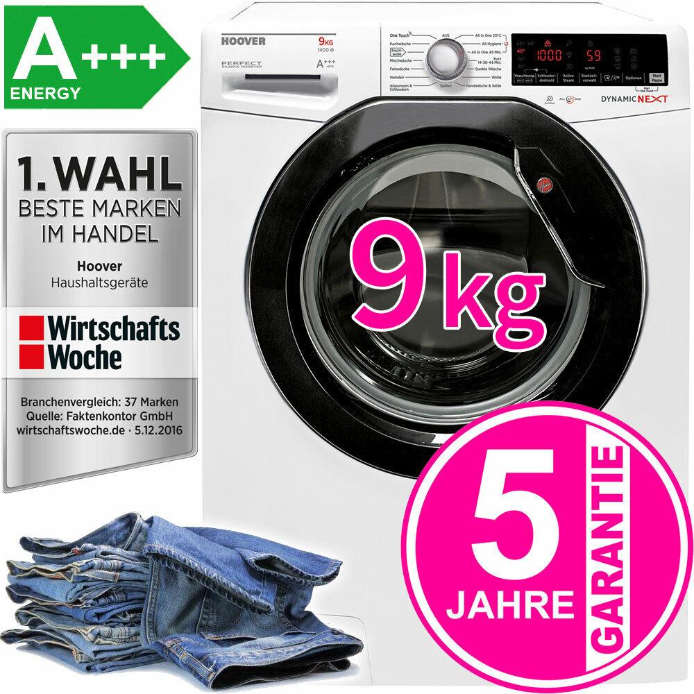 Hoover A+++ 9kg XL Waschmaschine Dampf-Funktion Inverter-Motor Frontlader 1400 U