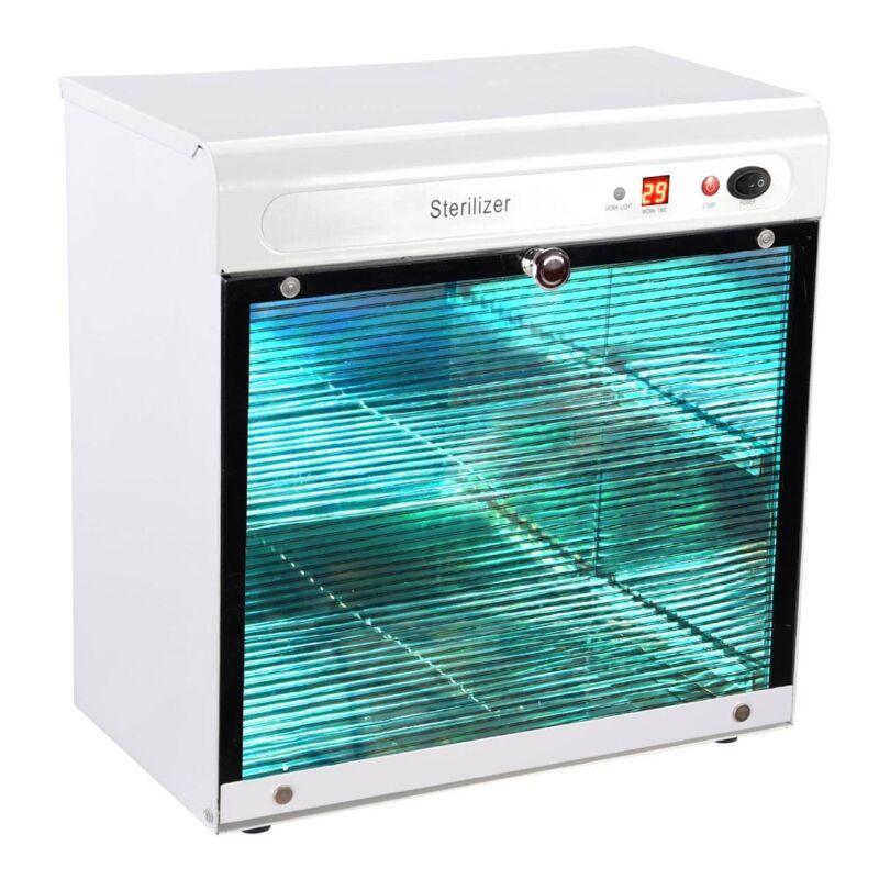 16L UV Tool Sterilizer Cabinet Machine w/ Timer Manicure Spa Salon Sterilization