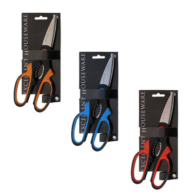 Edelstahl Küchenschere Haushaltsschere Schere mit Softgriff - 20cm -