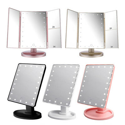 16 LED 22 LED Light Vanity Makeup Cosmetic Mirror Touch Screen Lighted Tabletop  (Cosmetic Mirror)