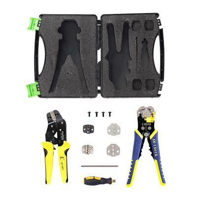 (Wire Crimper Kit Crimping Plier Stripper Bootlace Ferrule Cord End Terminal T9J0)