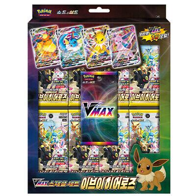 Pokemon Card Game Sword Shield VMAX Special Set Eevee Heroes KOREAN